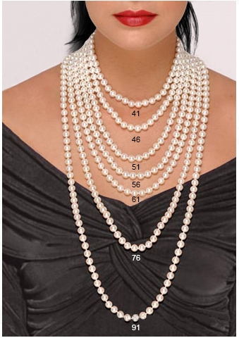 Выбор длины ожерелья